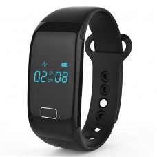 JW018 Bluetooth Smart Watch Wristband Monitoring Calls SMS Remind for Smartphone - Black