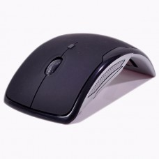 New Mini 2.4 GHz Wireless Optical Rex Mouse- Black