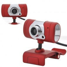 High Definition PC Webcam Camera, USB 2.0 12 Mega Pixel Mini Webcam HD Web Camera(Red)