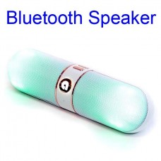 F809 Bluetooth Speaker Support TF Card USB 2.0 With LED Light White