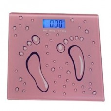 LECREA SH-368 Digital Electronic Body Weight Platform Scales Electronic Bathroom Body Scale (Pink Footprints)