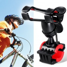 Clip-Grip Handlebar Bike Mount Holder Stand for Smart Mobile Phones Below 6.3 inch or GPS Devices - Black