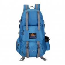 50L Waterproof Climbing Backpacks Outdoor Travel Mountaineering Bags Leisure Hiking Backpack - Blue