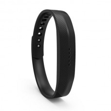 Lot Rubber Replacement Band Strap Activity Bracelet No Tracker Wristband with Metal Clasp for Fitbit Flex 2 - Black