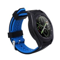 V8 Bluetooth 3.0 All-Round Support Sim Card Pedometer Remote Camera Smart Watch - Black