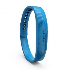 Lot Rubber Replacement Band Strap Activity Bracelet No Tracker Wristband with Metal Clasp for Fitbit Flex 2 - Blue