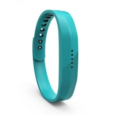 Lot Rubber Replacement Band Strap Activity Bracelet No Tracker Wristband with Metal Clasp for Fitbit Flex 2 - Baby Blue