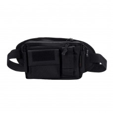 Cool Walker 3 in 1 Military Outdoor Tactical Waist Bag Waterproof Bumbag with Detachable Single-shoulder Bag - Black