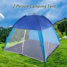 2 Person Camping Tent Portable Tent for Hiking Backpacking Beach Outdoor Use