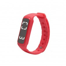 CD5 Fitness Tracker Smartwatch Bracelet Accurate 3D Pedometer Smart Wristband Bracelet Monitor Temperature Sleep for Smartphones - Red
