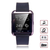 U Watch U8 Bluetooth Smart Watch for Android Smartphones and iPhone - Black