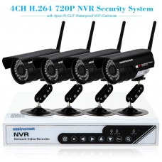 szsinocam 4CH HD 720P H.264 NVR Kit with 4pcs IP Camera 36IR LEDs Security System
