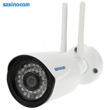 szsinocam HD Megapixels 720P 2.4G/5.8G Wireless Wifi Camera + 8G TF Card CCTV Surveillance Security P2P Network IP Cloud Indoor Outdoor Bullet Camera support Onvif2.4 Weatherproof IR-CUT Filter Infrared Night Vision Motion Detection Email Alarm Android/iO