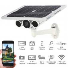 Wanscam®  Wireless WiFi Solar & Battery Power Bullet IP Camera IR-CUT Night Vision Waterproof Outdoor Onvif Security HW0029-3