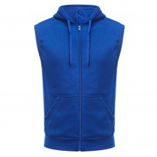 Casual Solid Color Oversize Pocket Male Hooded Waistcoat