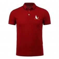 Half Button Embroidery Polo Shirt
