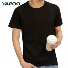 TAPOO Casual Round Neck Short Sleeve Male Breathable T Shirt