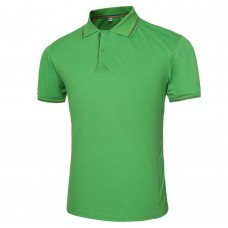 Male Solid Color Turn-down Collar Short Sleeve Polo Shirt