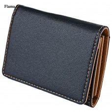 Flama Novelty Pure Color Zigzag Folding Mini Money Card Wallet for Men