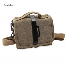 Soudelor Water Resistant Canvas Camera Bag Digital Case