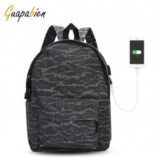 Guapabien USB Charge Port Cable Backpack Laptop Travel Bag