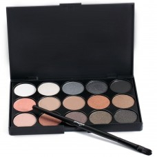 15 Colors Girl Makeup Neutral Eye Shadow Palette with Brush