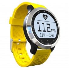 F69 Life Waterproof Smart Buletooth Watch Fitness Tracker + Heart Rate Monitor Bracelet Pedometer Sleep Sedentary Reminder Wristband for Smartphone - Yellow