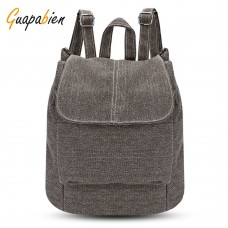 Guapabien Casual Style Canvas Backpack Drawstring Bag