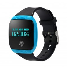 E07s Smart Bracelet IP67 Waterproof Swim Watch Health Fitness Activity Tracker for IOS and Android Smart Wristband - Blue