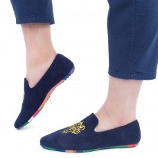 Male Slip On Nubuck Leather Colorful Soles Casual Loafers Shoes