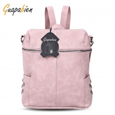 Guapabien Preppy Style Backpack Rivet Women Shoulder Bag
