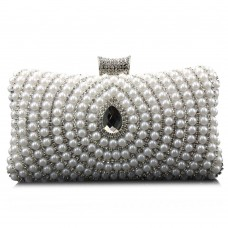 Beaded Diamante Clutch Evening Bag
